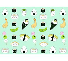 Kawaii Bento Box Print - Mint Photographic Print
