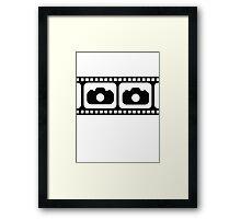Film strip camera large Framed Print