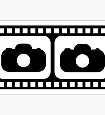 Film strip camera large Sticker