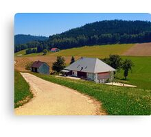 Hiking trail, farm house and scenery | landscape photography Canvas Print