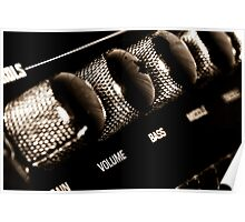 VOLUME control on the electric guitar amplifier Poster