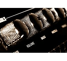 VOLUME control on the electric guitar amplifier Photographic Print