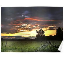 """July Sunset In HDR"" Poster"