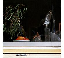 """Self-portrait with Feather, Tomatoes, Gum Leaves, & Dead Blowfly"" Photographic Print"