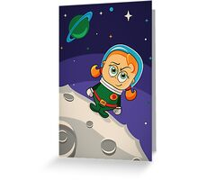 Zoe Conquers The Moon Greeting Card