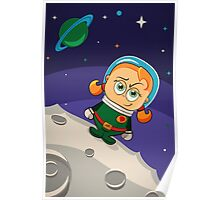 Zoe Conquers The Moon Poster