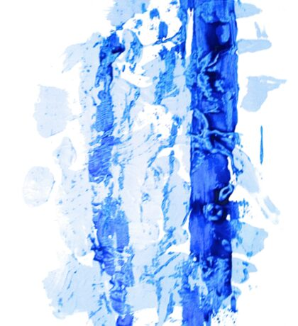 Blue Abstract Painting design Sticker