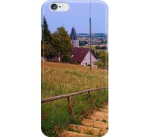 Stairway to the village center | landscape photography iPhone Case/Skin