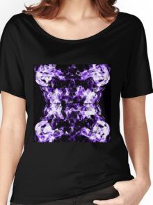 Electrifying purple sparkly triangle flames Women's Relaxed Fit T-Shirt