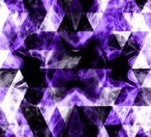 Electrifying purple sparkly triangle flames Sticker