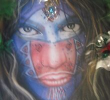 My Friend  Xad.... in his Inner Warrior Disguise by ellamental