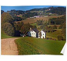 Beautiful traditional farmland scenery | landscape photography Poster