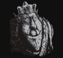 Forest Dude T greyscale by Tom Godfrey