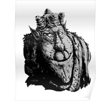 Forest Dude T greyscale Poster