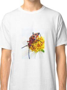Beautiful Beetle On a Flower Classic T-Shirt