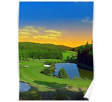Summer sunset at the golf club | landscape photography Poster