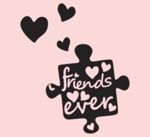 Best Friends Forever Connection Puzzle (right) Kids Clothes