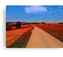 Hiking through a peaceful scenery | landscape photography Canvas Print