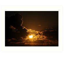 Nullarbor sunset Art Print