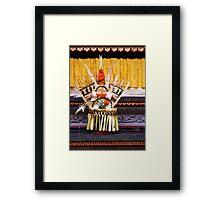 Offering, Ubud, Bali Framed Print