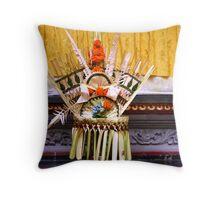 Offering, Ubud, Bali Throw Pillow