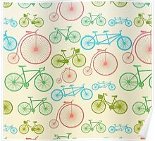 colourful bicycles Poster