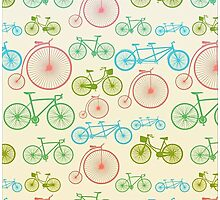 colourful bicycles Photographic Print