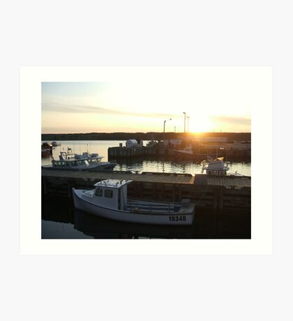 Cape Breton - Boats at Sunset Art Print