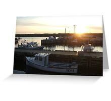 Cape Breton - Boats at Sunset Greeting Card