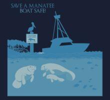 Save a Manatee - Boat Safe Kids Tee
