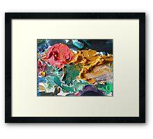 A Painters Palette Framed Print