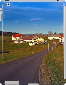 Country road, scenery and blues sky II | landscape photography by Patrick Jobst