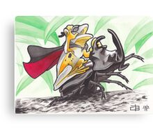 Super Rodeo Frog Canvas Print
