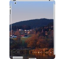 Indian summer sunset at the fishing lake III | waterscape photography iPad Case/Skin