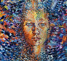 Spiritual art, Chi flow mind-eye-heart-power and the primitive mirror soulbeing by Byron  Tik