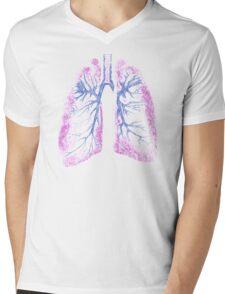 Lungs (Biro) Mens V-Neck T-Shirt