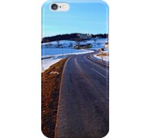Country road through winter wonderland III | landscape photography iPhone Case/Skin