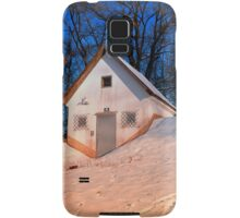 Small cottage in winter wonderland | architectural photography Samsung Galaxy Case/Skin