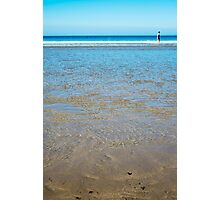 beach in county kerry ireland with wading woman Photographic Print