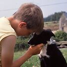 My Son and his Friend Shep about 1988 by AnnDixon