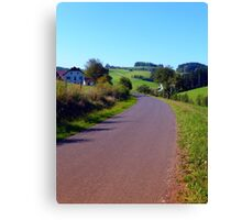Country road with scenery II | landscape photography Canvas Print
