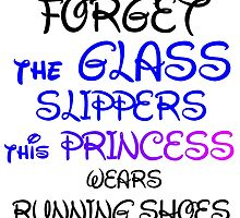 GLASS SLIPPERS (BLK WRITING) by Divertions