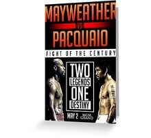 Mayweather vs. Pacquiao - POSTER Greeting Card