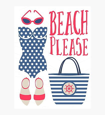 Beach Please Fashion Set Photographic Print