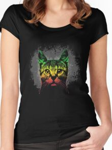 Reggae Cat Women's Fitted Scoop T-Shirt