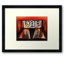 Tail pipes Framed Print