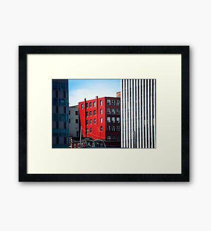 Red Insertion Framed Print