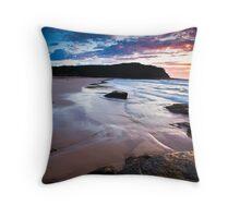 Pretty Beach Dawn Throw Pillow