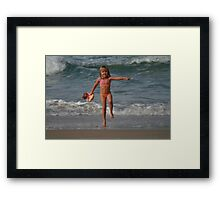Childs Play at the Beach Framed Print