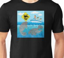 Boat Slow Manatees Below Unisex T-Shirt